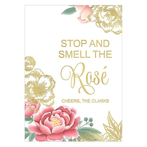 Modern Floral Large Foiled Sign Card