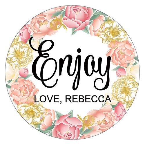 Modern Floral Small Sticker