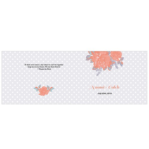 Retro Rose Personalized Book Style Notepad