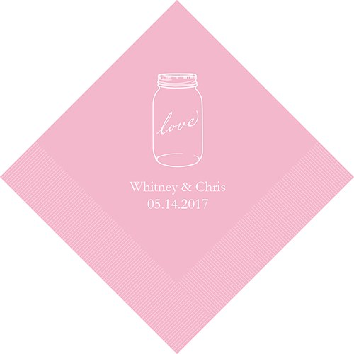Mason Jar Love Printed Napkins The Knot Shop