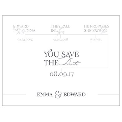 classic script save the date card the knot shop