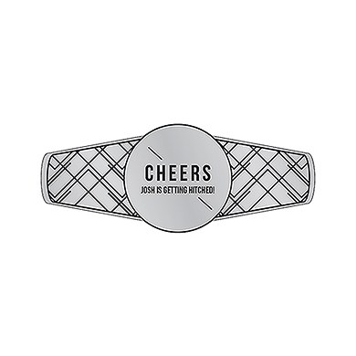 product personalized cigar band beer bottle neck label silver metallic foil