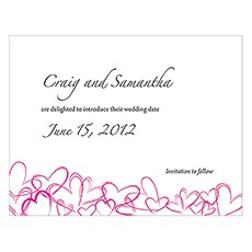 Contemporary Hearts Save The Date Card
