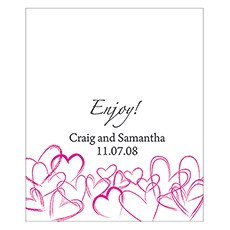 Contemporary Hearts Rectangular Label