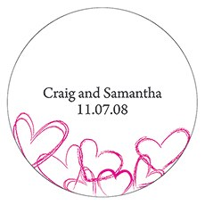 Contemporary Hearts Large Sticker