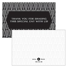Black and Gold Opulence Large Rectangular Tag