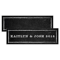 Small Rectangular Tag with Chalkboard Print Design
