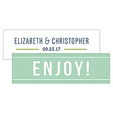 Smart Type Small Rectangular Favor Tag