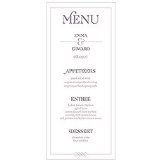 Personalized Wedding Reception Menu Cards - The Knot Shop