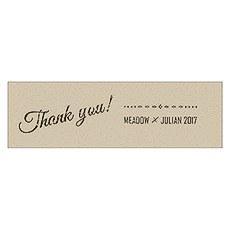 Free Spirit Thank You Small Rectangular Tag