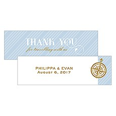 Vintage Travel Small Rectangular Favor Tag - Thank You