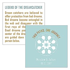 Dreamcatcher Legend Square Favor Card