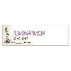 Natural Charm Small Rectangular Favor Tag