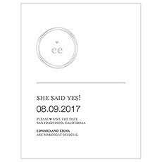 Monogram Simplicity Save The Date Card - Modern