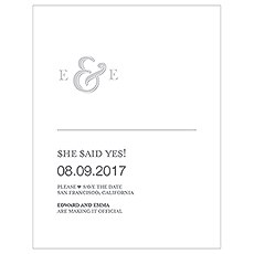 Monogram Simplicity Save The Date Card - Simple Ampersand