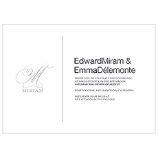 Monogram Simplicity Invitation - Elegant