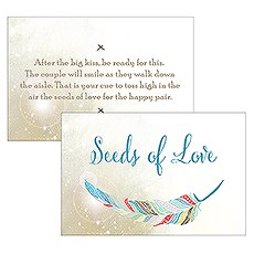 Feather Whimsy Open Format Large Rectangular Card