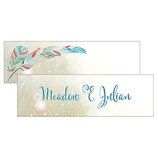 Feather Whimsy Small Rectangular Favor Tag