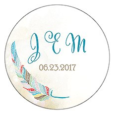 Feather Whimsy Small Sticker