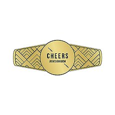 Personalized Cigar Band / Beer Bottle Neck Label - Gold Metallic Foil