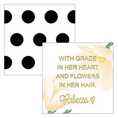 Modern Floral Square Foiled Favor Tag