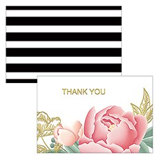 Modern Floral Large Foiled Rectangular Card