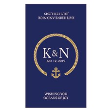 Nautical Rope Monogram Rectangular Label
