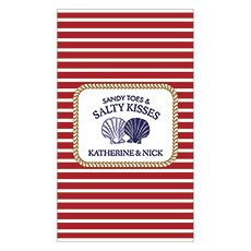 Sandy Toes And Salty Kisses Rectangular Label