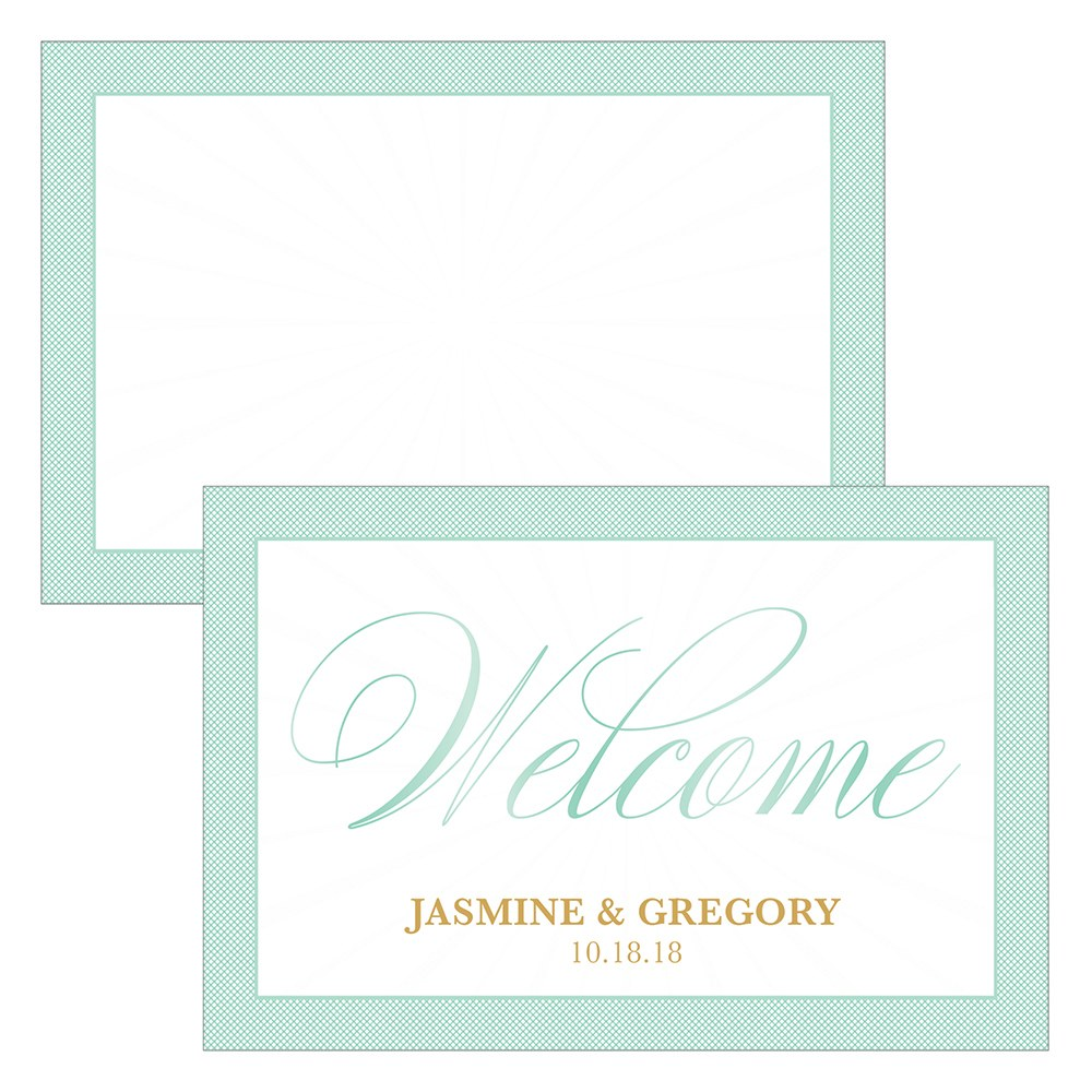 Glitz and Glam Flat Place Card