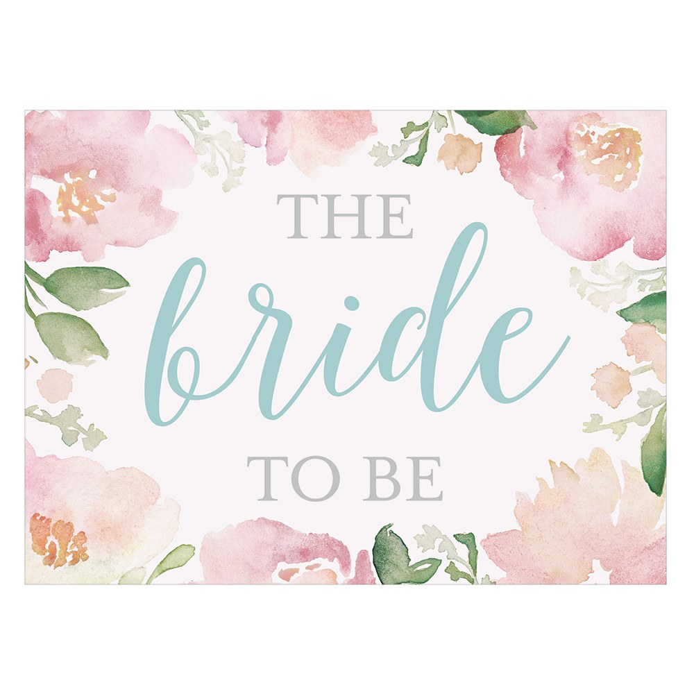 Garden Party Bride To Be Chair Signs