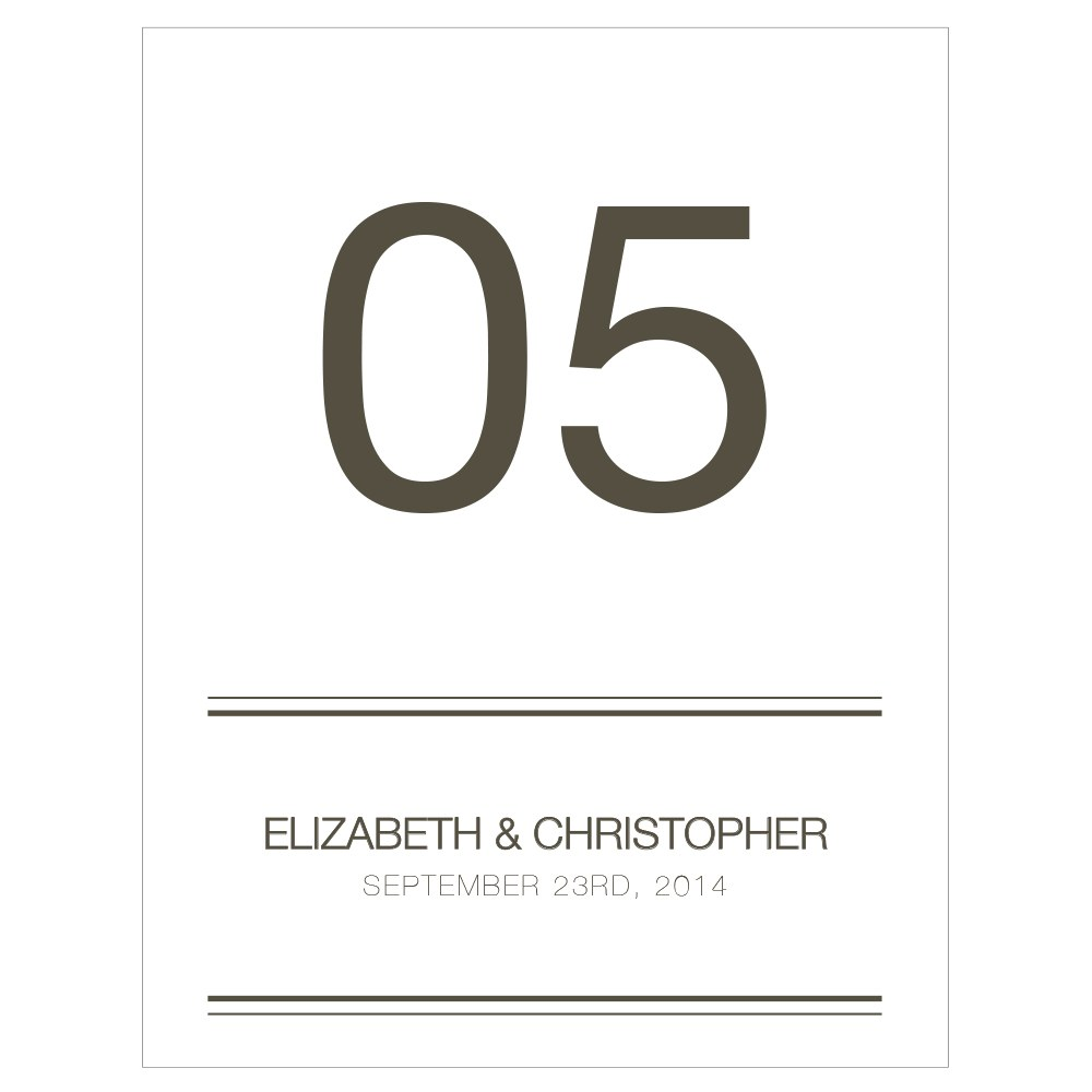 City Style Table Numbers
