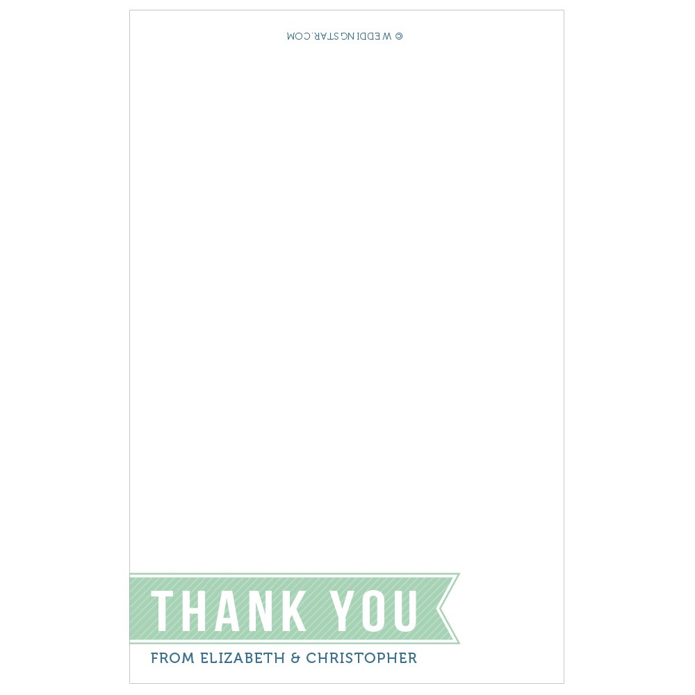 Smart Type Thank You Card With Fold