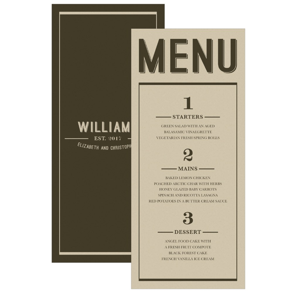 Bistro Bliss Menu Card