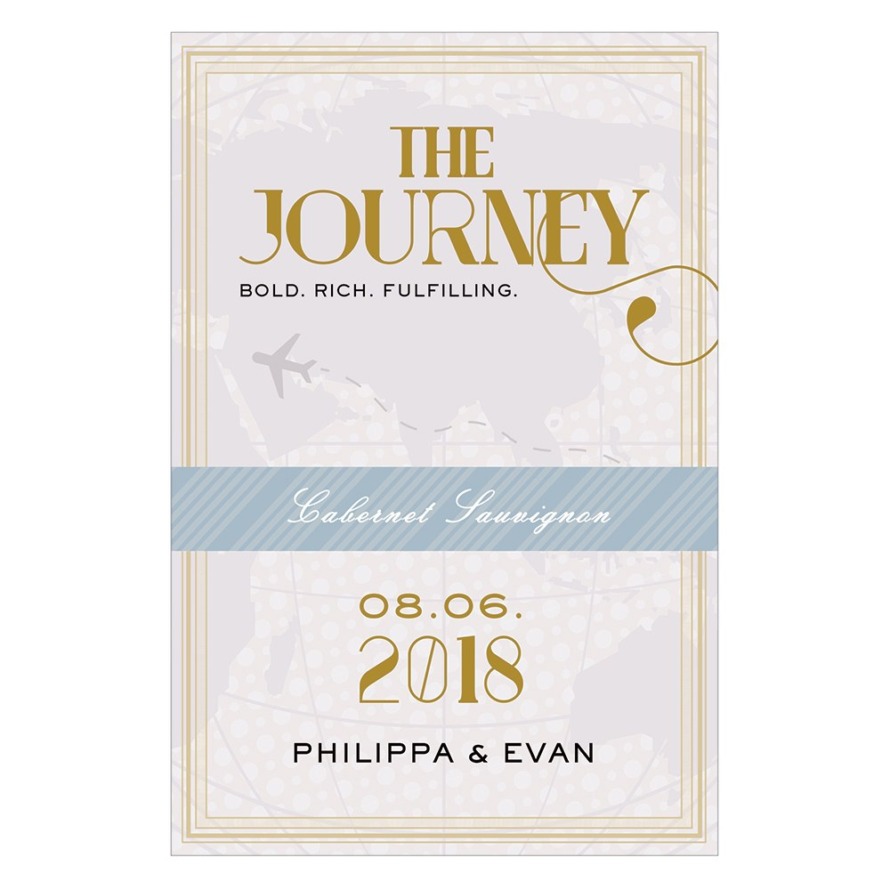 Vintage Travel Wine Label   Journey