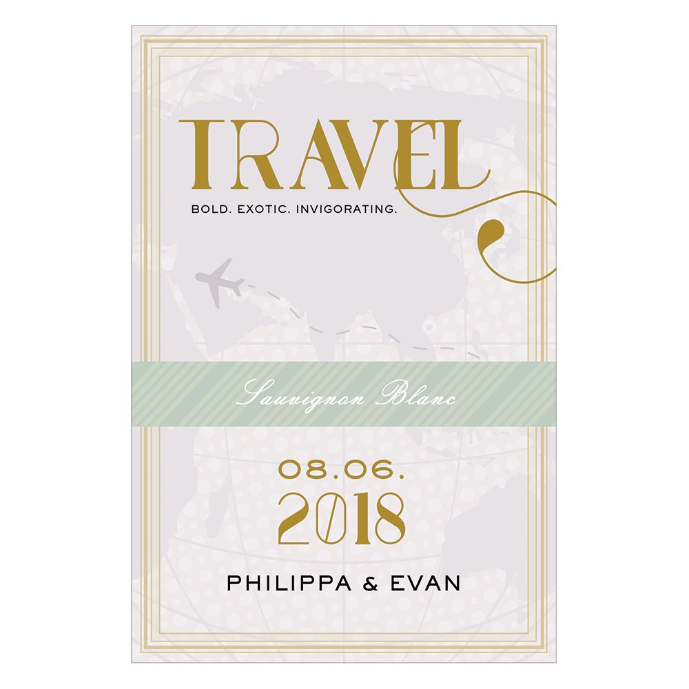 Vintage Travel Wine Label   Travel