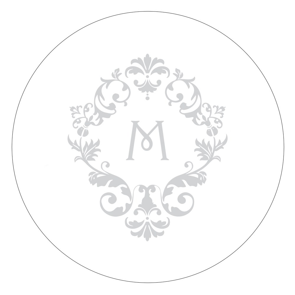 Monogram Simplicity Small Sticker   Classic Filigree