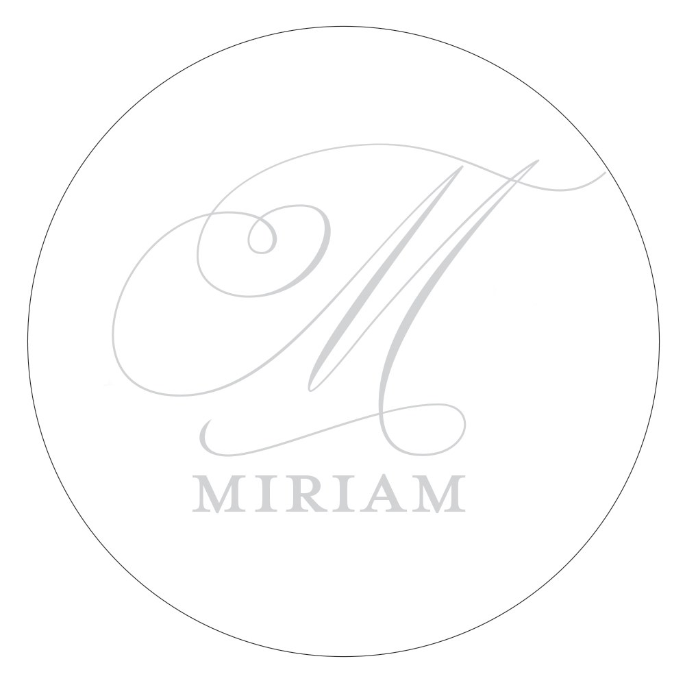 Monogram Simplicity Small Sticker   Elegant