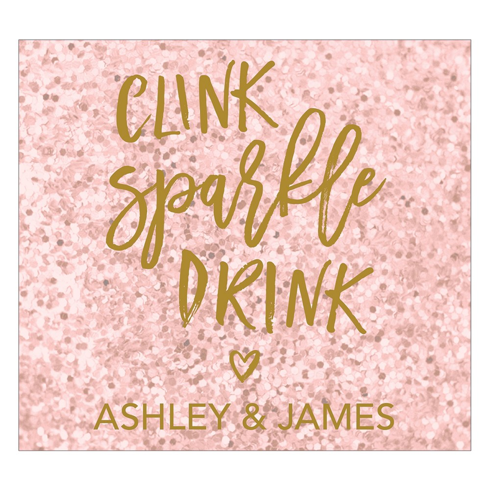 Sparkle Rectangular Label
