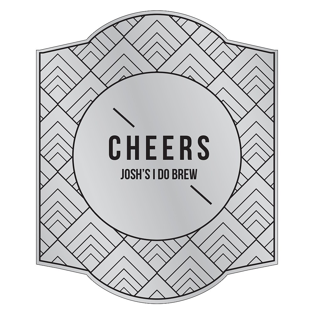 Personalized Craft Beer Bottle Label - Silver Foil