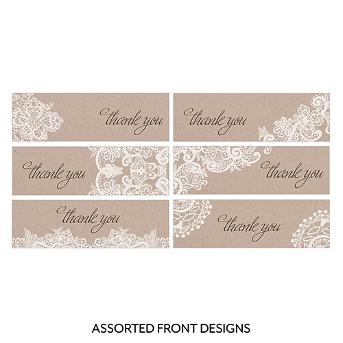 Lace Medley Assorted Rectangular Favor Tag
