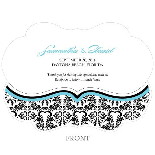 Love Bird Damask Hand Fan Wedding Favor