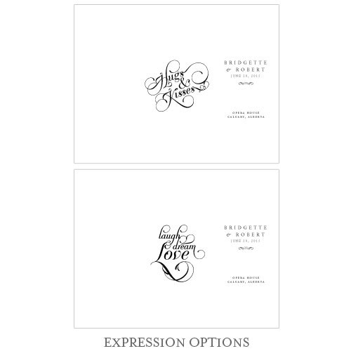 Expressions Trifold Wedding Program Bulletin