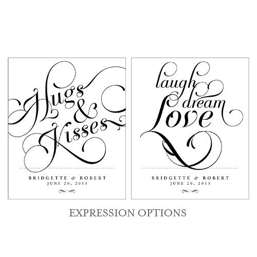 Expressions Wedding Rectangular Label