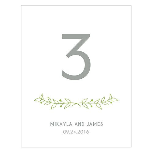 Woodland Pretty Table Numbers