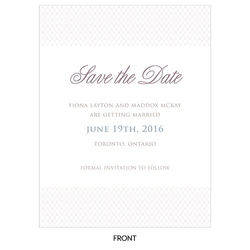 Contemporary Vintage Save The Date Card