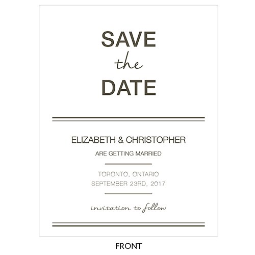 City Style Save The Date Card