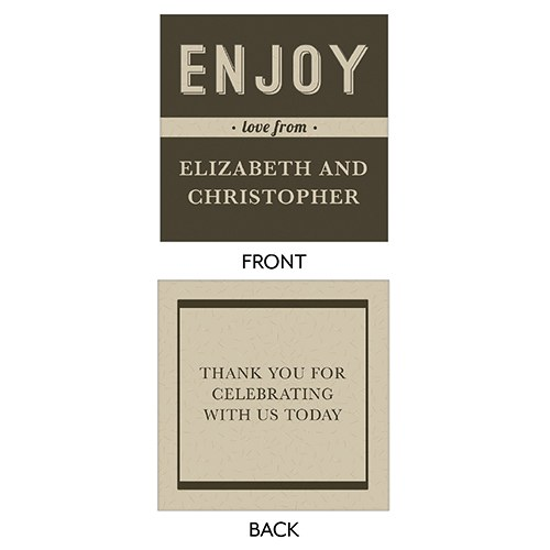 Bistro Bliss Square Favor Tag