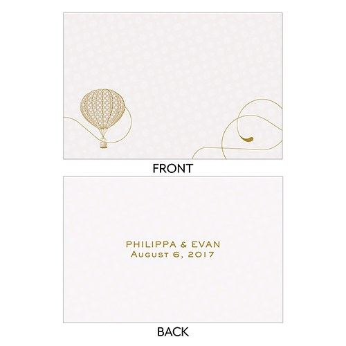 Vintage Travel Flat Place Card