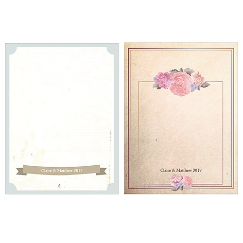 Vintage Medley Place Card With Fold Set