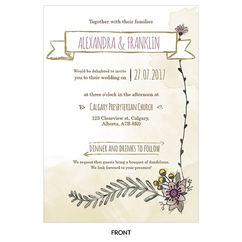 Natural Charm Vertical Invitation